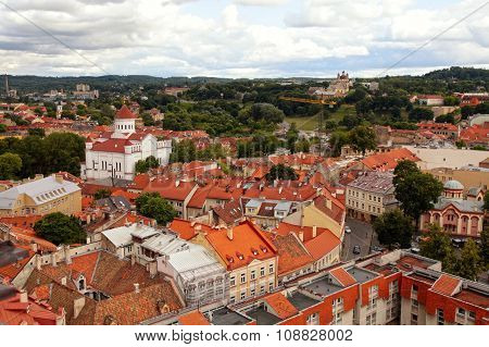 Vilnius City Aerial View, Vilnius, Lithuania.