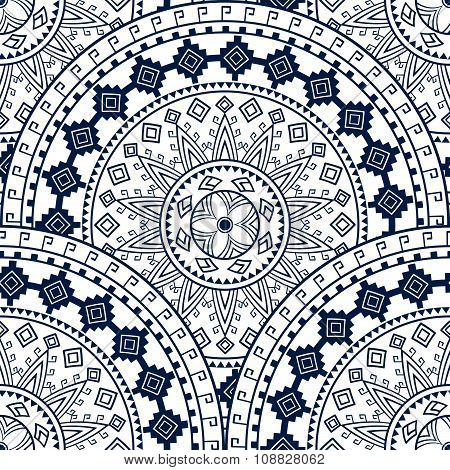 Bohemian Seamless Pattern. Indian, Ethnic, Tribal, Chinese Background, For Textile, Card, Wrapping