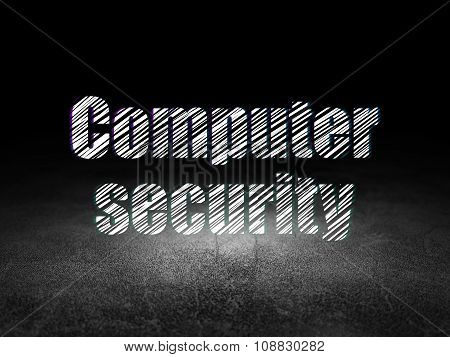 Security concept: Computer Security in grunge dark room