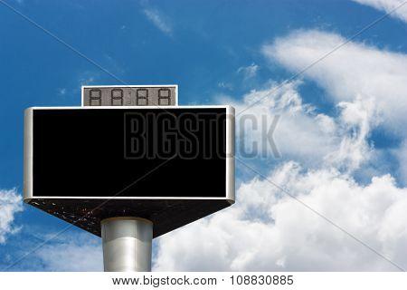 Blank Advertising Billboard Isolated On Sky