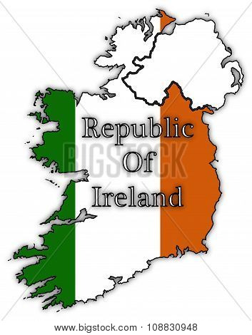 Republic Of Ireland Flags In Maps