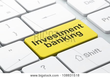 Money concept: Investment Banking on computer keyboard background