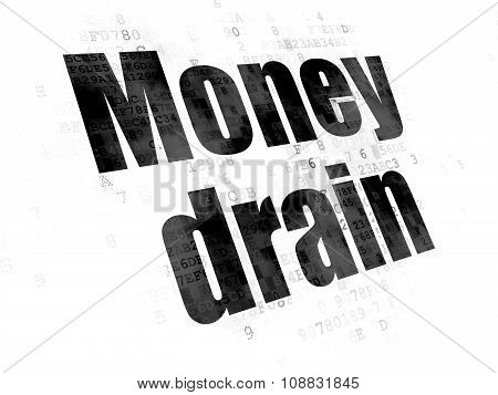 Money concept: Money Drain on Digital background