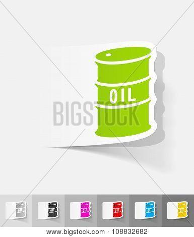 realistic design element. barrel of oil