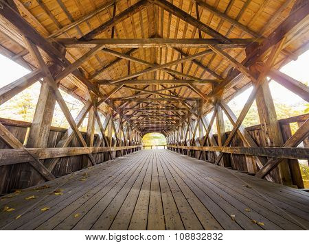 Covered bridge interior view