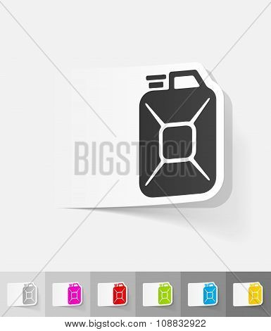 realistic design element. jerrycan