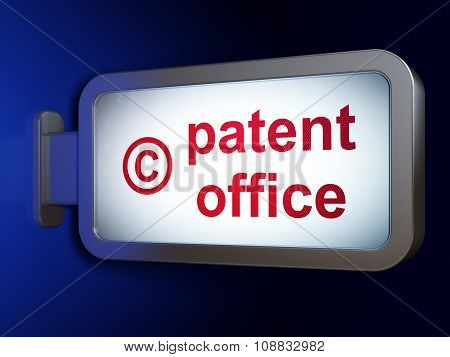Law concept: Patent Office and Copyright on billboard background