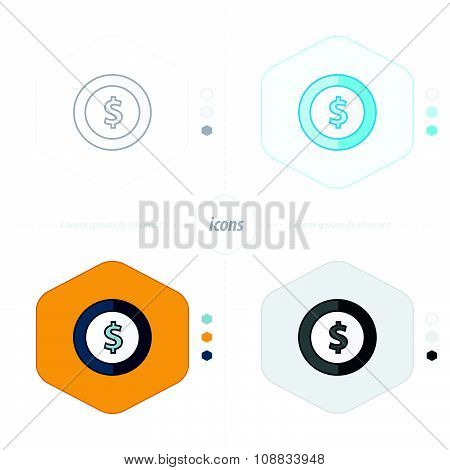 Coin Icon.vector Illustration