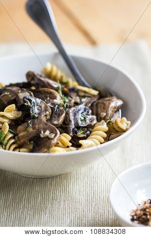 Pasta With Mushroom And Herb Sauce