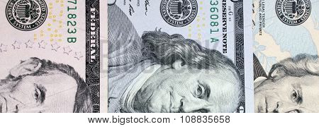 Background Of Money (close Up Of Dollar Bill)