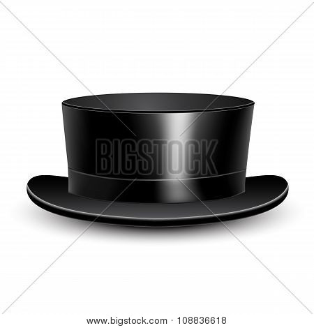 Illustration black cylinder hat.
