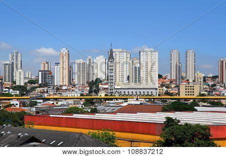 Tall apartment homes in Sao Paulo, Brazil