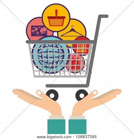 commerce icons design