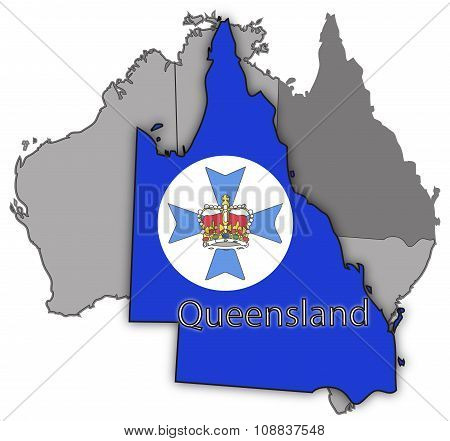 Queensland Territory And Flag