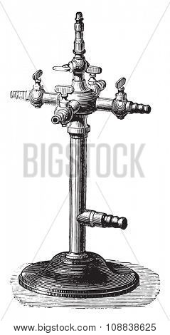 Candlestick amphitheater, vintage engraved illustration. Industrial encyclopedia E.-O. Lami - 1875.