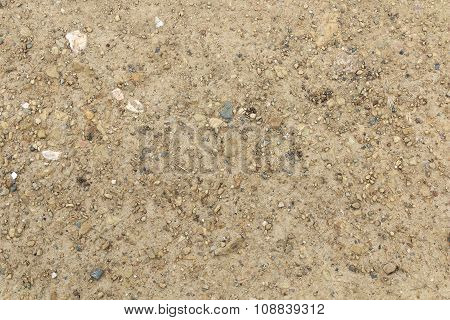 Sand And Dusty Surface With Small Stones