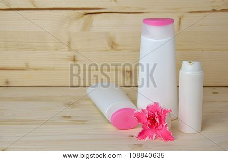 Cosmetics With Flower