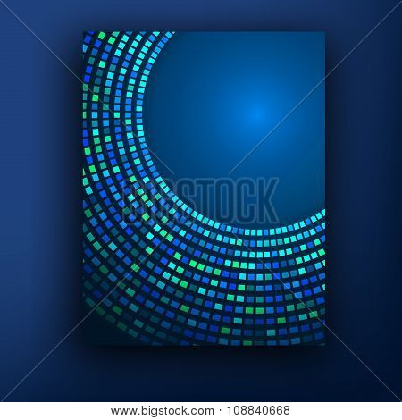 Technology Color Background. Molecules, Atoms And Flashes Of Light. Medicine, Bioengineering. Commun