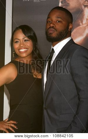 LOS ANGELES - NOV 19:  Zinzi Evans, Ryan Coogler at the
