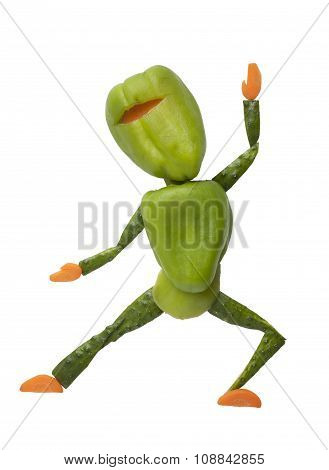Gren Vegetable Ninja In Funny Pose