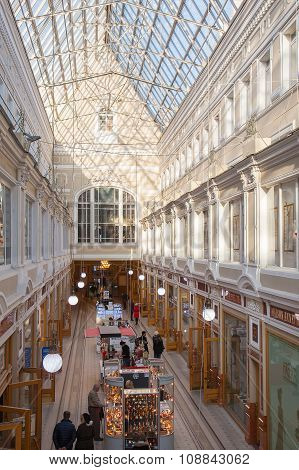 Interior Of Saint Petersburg Passage - Shopping Center