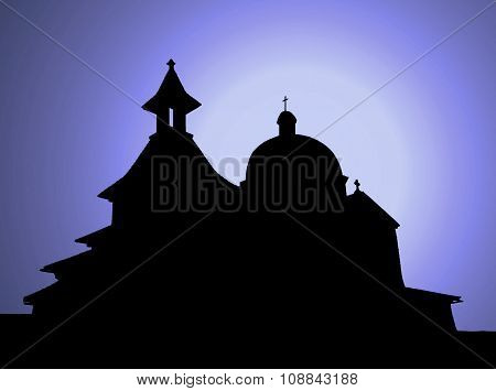 Old church in the night