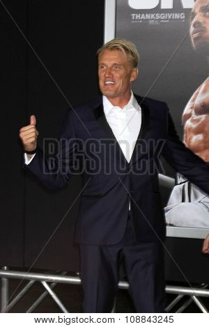 LOS ANGELES - NOV 19:  Dolph Lundgren at the