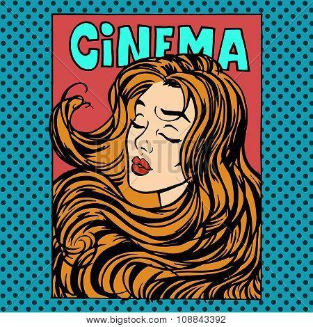 Movie poster woman actress heroine cinema
