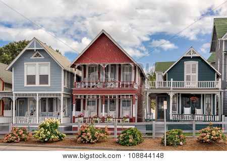Colourful houses in Oak Bluffs