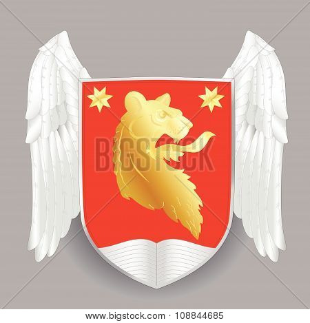 Vector heraldic coat of arms. Heraldry shield template.