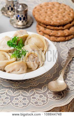 Homemade Meat Dumplings - Russian Pelmeni