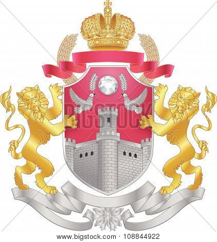 Vector heraldic royal coat of arms.
