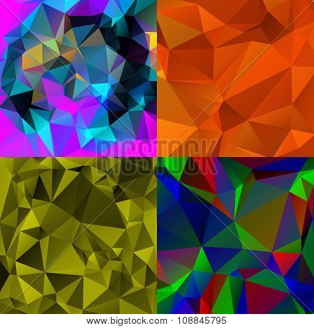 Abstract Triangular Wallpapers