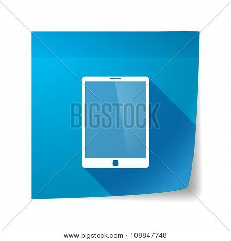 Long Shadow Vector Sticky Note Icon With A Tablet Computer