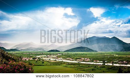Clouds And Mist Over The Neretva River Valley In Southern Croatia