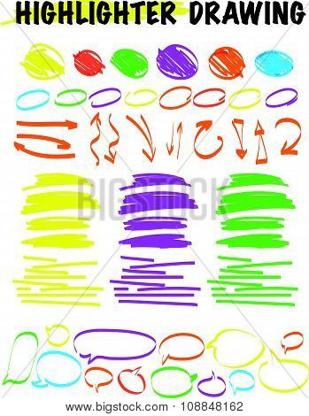 Vector set of hand drawn doodle elements.
