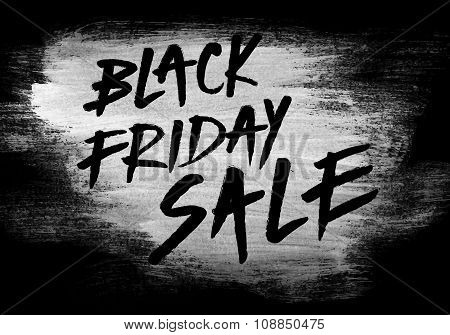 Black Friday Sale Hand Paint Poster Banner