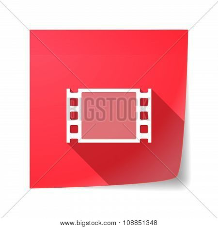 Long Shadow Vector Sticky Note Icon With A Film Photogram