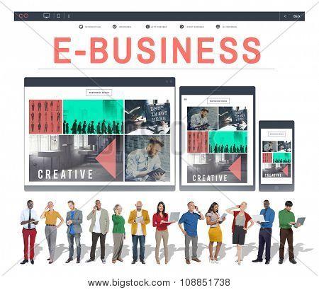 E-business E-commrce Business Responsive Design Concept