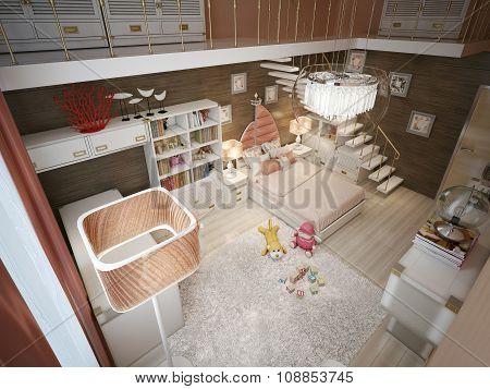Children's Bedroom In The Art Deco Style