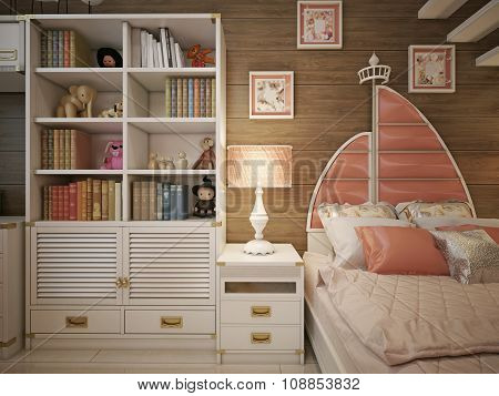 Children's Room In The Neoclassical Style