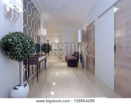 Corridor Art Deco Style