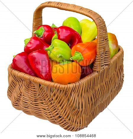 Basket With Paprika.