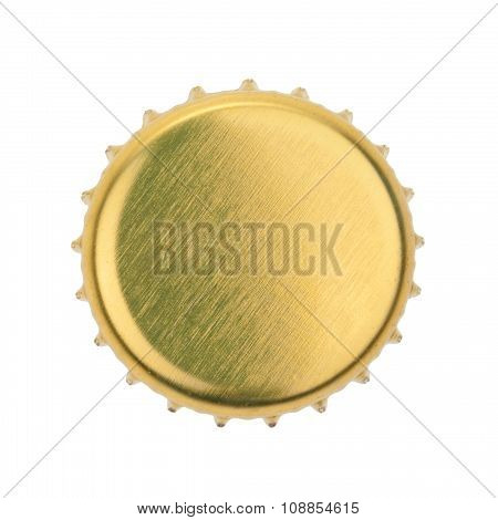 Bottle Cap Isolated On White Background. Without Shadow