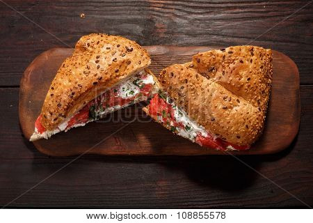 Cheese Salmon Sandwich