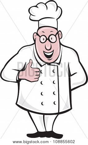Chef Cook Thumbs Up Isolated Cartoon