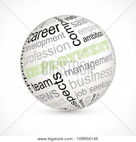 Employment Theme Sphere With Keywords