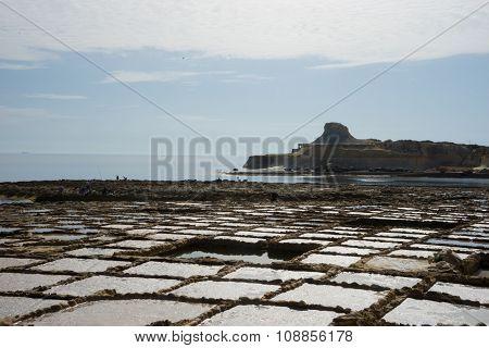 Salt pans in Xwejni Bay