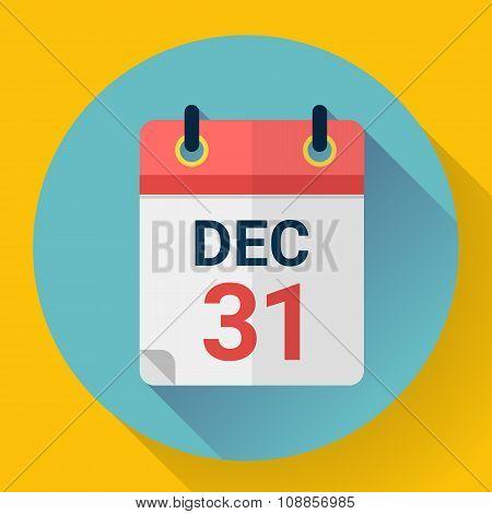 Calendar icon, vector illustration. Flat design style