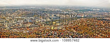 Stuttgart Panorama - Before Construction Site Stuttgart 21